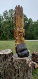 Chainsaw carving Eagle, Soaring Eagle, Wood Carving, 3 foot tall soaring Eagle