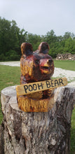 Load image into Gallery viewer, Chainsaw Carving Small Bear in log. cedar Chainsaw Carving Bear. custom sign, Free Shipping