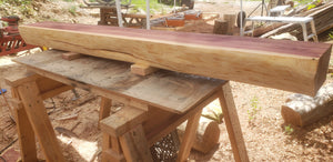 Cedar Live Edge fireplace mantel. 5 foot long