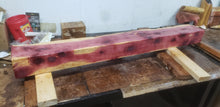 Load image into Gallery viewer, Cedar Live Edge fireplace mantel. 5 foot long