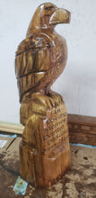 Load image into Gallery viewer, Chainsaw carving Eagle, 3 foot Eagle Wood Carving Chainsaw memorial statue, standing eagle,