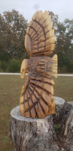Load image into Gallery viewer, Chainsaw Carving Eagle Soaring. Chainsaw carved eagle, 3 foot tall wood chainsaw carving art.