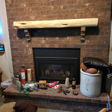 Load image into Gallery viewer, Fireplace Mantels, Cedar Fireplace Mantels, Custom fireplace Mantel, Cedar Fireplace Mantel, many length options