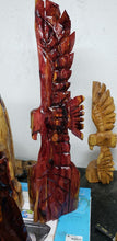Load image into Gallery viewer, Chainsaw Carving Eagle, 3  foot Cedar Eagle. Chainsaw Soaring Eagle,