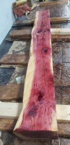 5 inch thick Cedar Mantel Live edge fireplace mantel, red cedar mantel, many size options