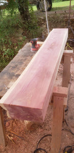 Cedar Fireplace mantel, Floating Cedar Mantel Shelf, Rustic Red Cedar Beam