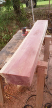 Load image into Gallery viewer, Cedar Fireplace mantel, Floating Cedar Mantel Shelf, Rustic Red Cedar Beam