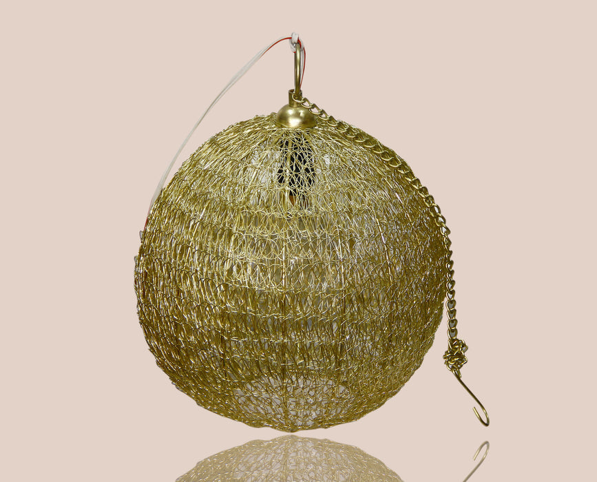 Golden Globe Decorated Lamp