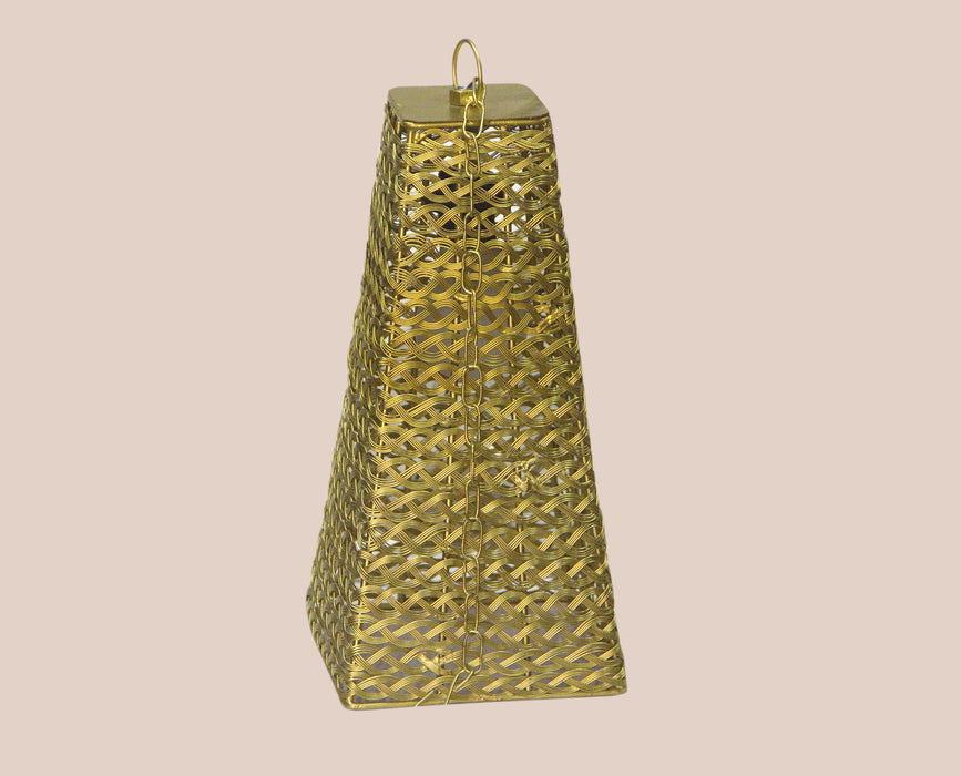 Pyramid Crinkle Decorated Lamp