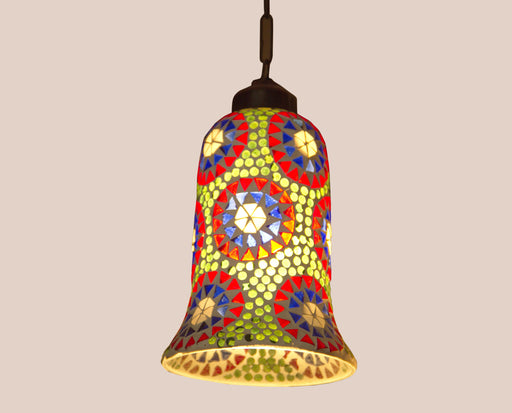 Glass Bell Decorated Lamp