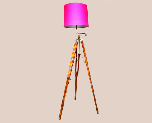 Pink Drum floor Lamp