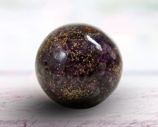 Semi precious Stone Decorative Amethyst Fengshui ball