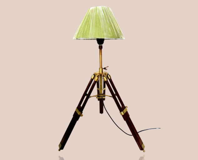 Brown Antique Tripod Table Lamp