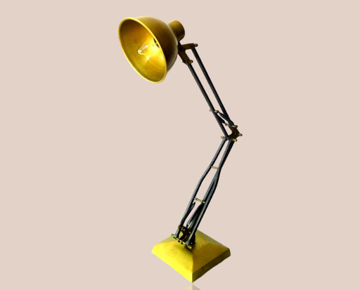Brass Yellow Antique Table Lamp