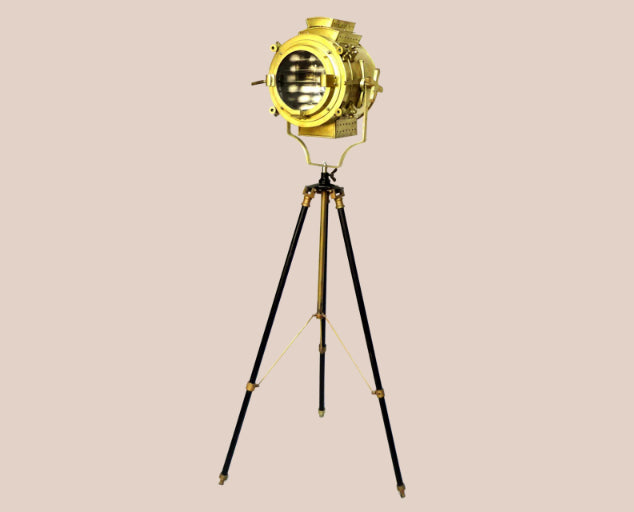 Brass & Gold Antique Searchlight Lamp