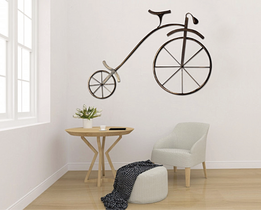 Retro Antique Bicycle Wall Panel