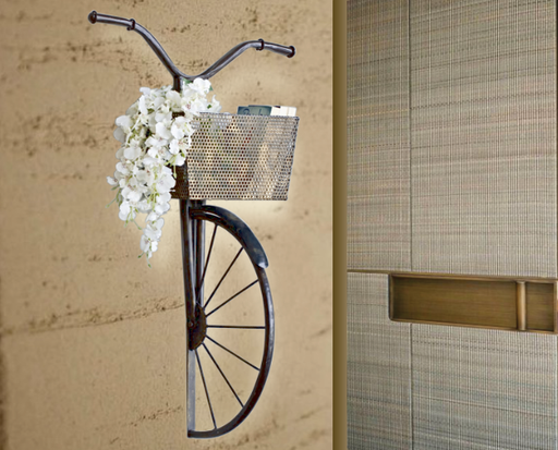 Basket Bicycle Wall Panel