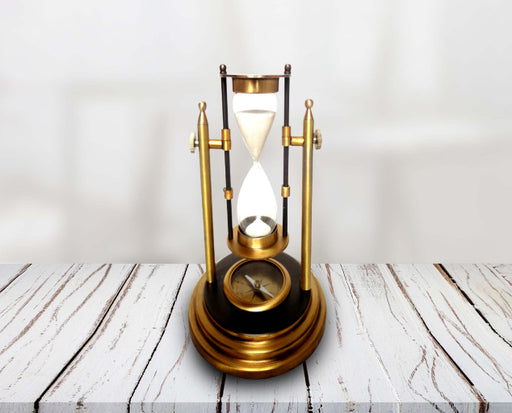 Revolving Sand Timer with compass