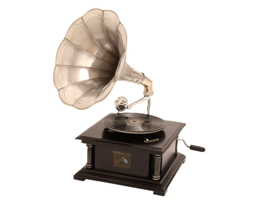 Nickel Finish Gramophone