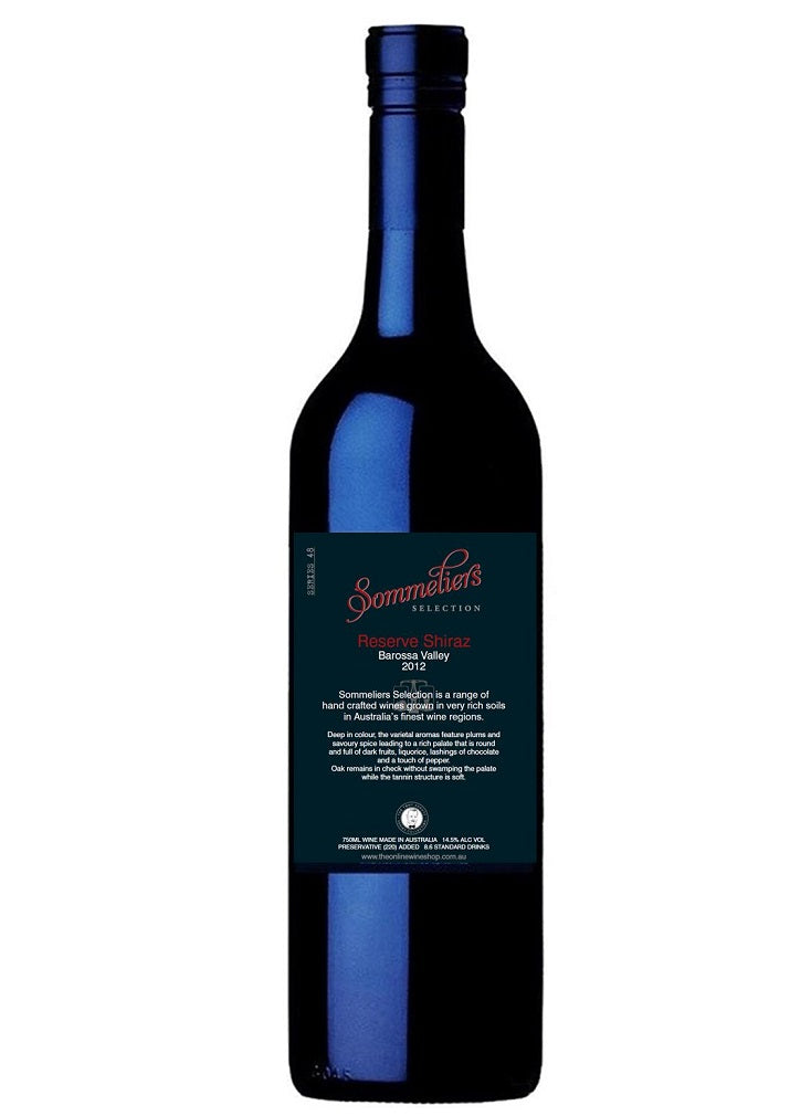 2012 Sommeliers Selection Reserve Shiraz - Barossa Valley - Dozen - The Online Wine Shop Pty Ltd