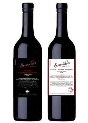 Sommeliers Selection Reserve Cabernet Sauvignon - McLaren Vale and Coonawarra - Mixed Dozen - The Online Wine Shop Pty Ltd