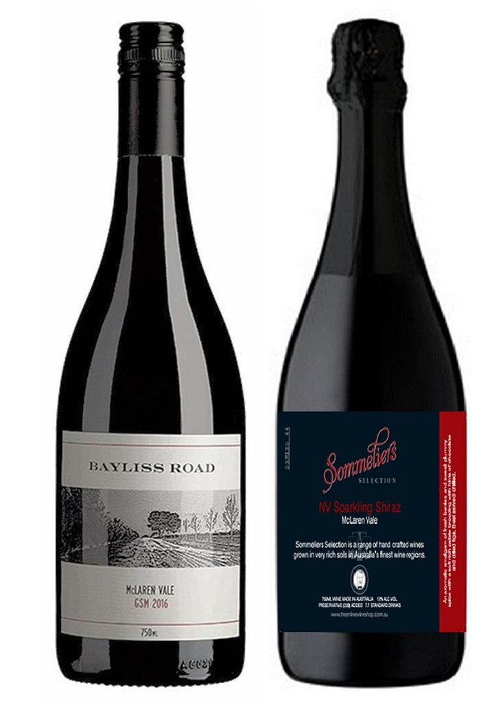 Bayliss Road GSM and Sommeliers Selection Sparkling Shiraz
