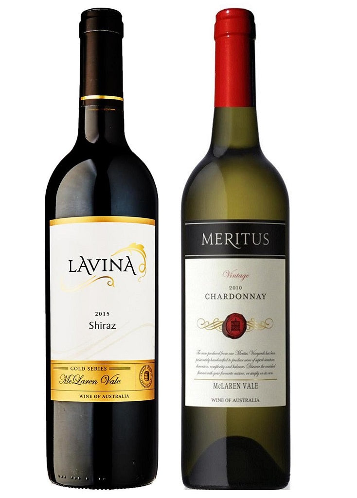Lavina Gold Series Shiraz and Meritus  2010 Chardonnay -  McLaren Vale Mixed Dozen - The Online Wine Shop Pty Ltd
