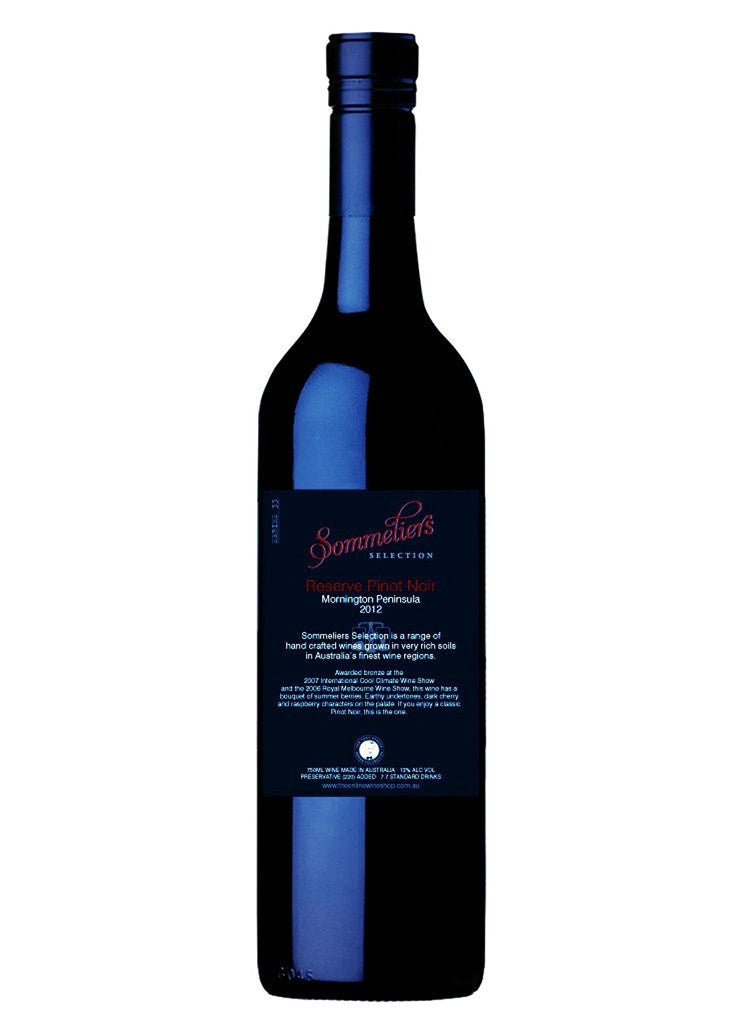 Someliers Selection 2012 Reserve Pinot Noir - Mornington Peninsula - Dozen - The Online Wine Shop Pty Ltd