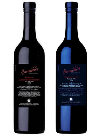 Mixed Dozen - 2016 Sommeliers Selection Cabernet Sauvignon and 2015 Sommeliers Selection Reserve Shiraz - The Online Wine Shop Pty Ltd