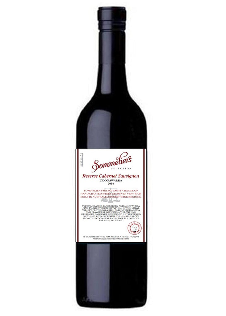Sommeliers Selection 2014 Reserve Cabernet Sauvignon - Coonawarra - Dozen - The Online Wine Shop Pty Ltd