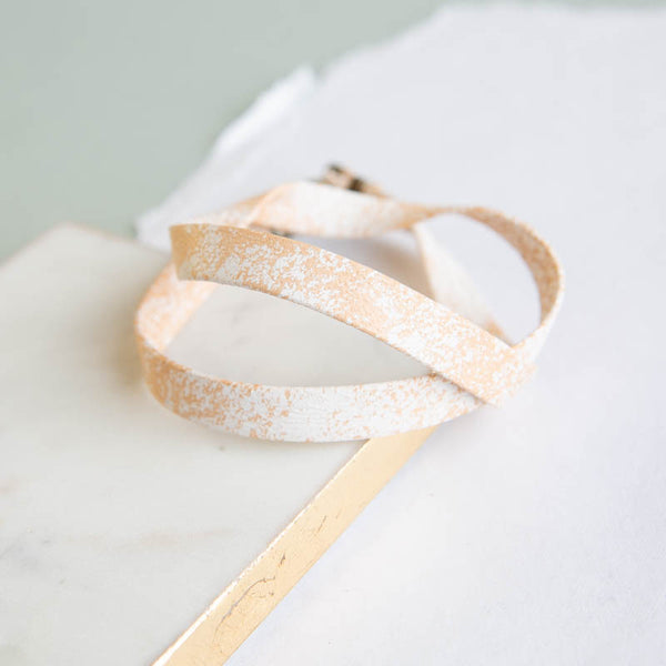 Leather Wrap - Whitewash