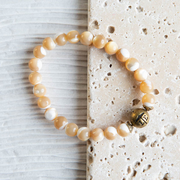 Beaded Bracelet - Butterscotch