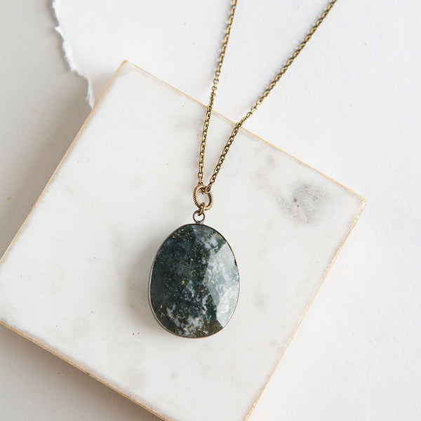 Pendant Necklace-Bloodstone