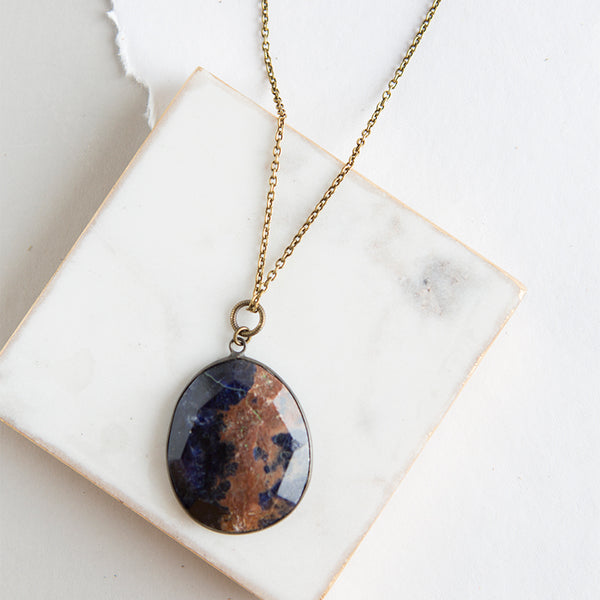 Pendant Necklace-Sodalite