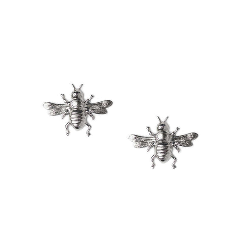 bee clip-on silver