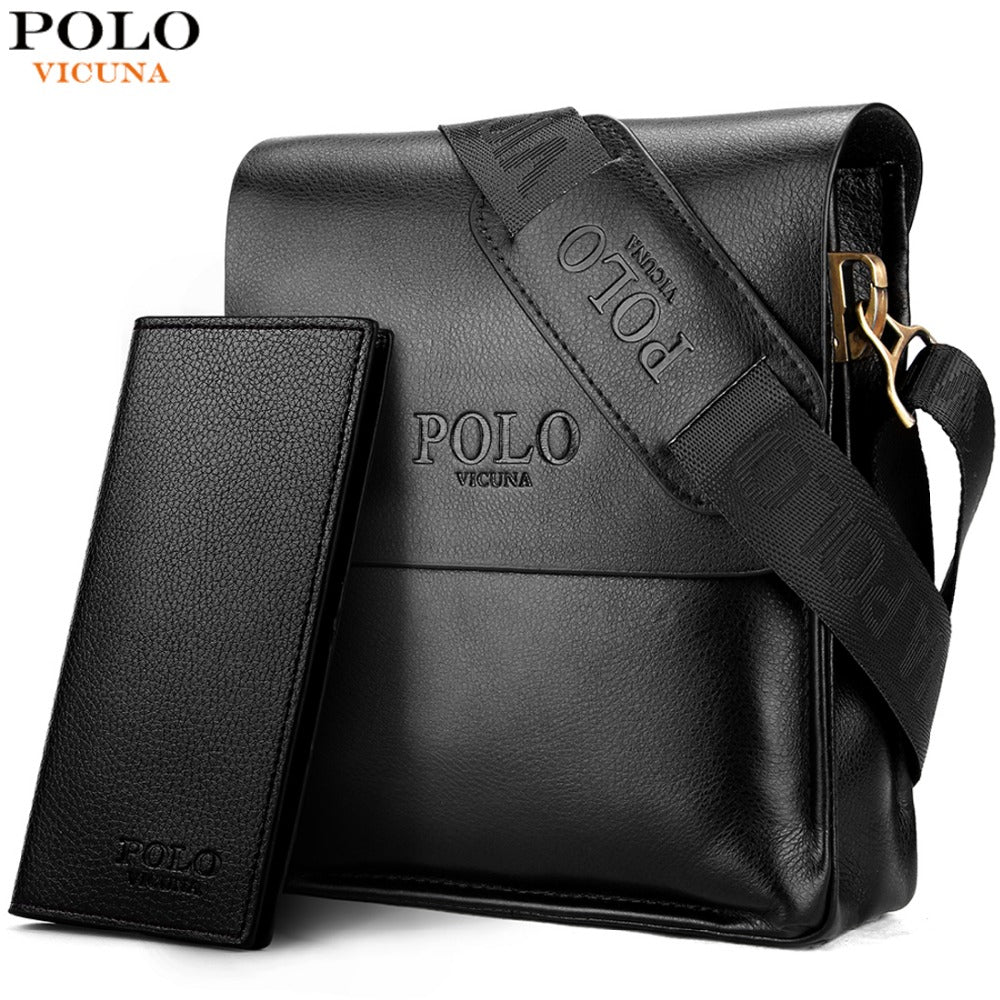 925113e52b37 VICUNA POLO Famous Brand Leather Men Bag Casual Business Leather Mens  Messenger Bag Vintage Men s Crossbody