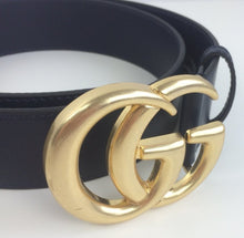 Load image into Gallery viewer, Gucci marmont double G buckle belt blu