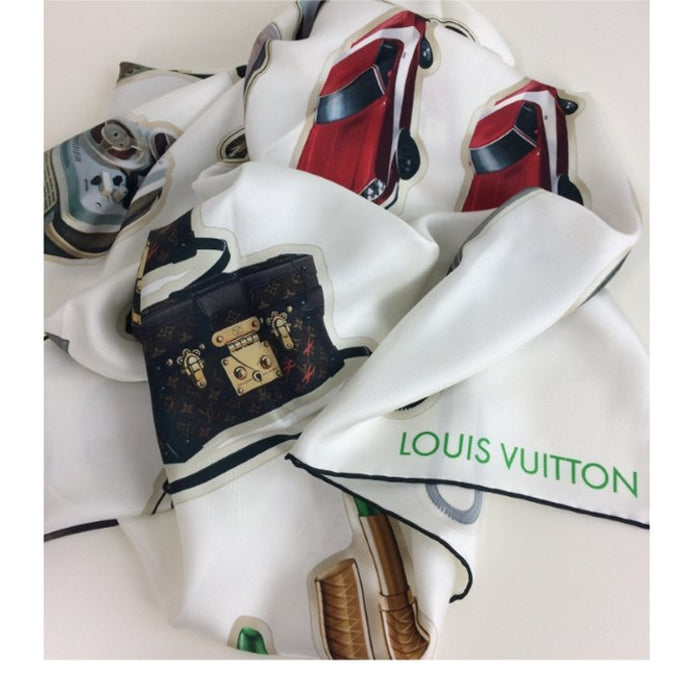 Louis Vuitton stickers ltd silk scarf