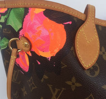Load image into Gallery viewer, Louis Vuitton Neverfull MM Roses Steven sprouse