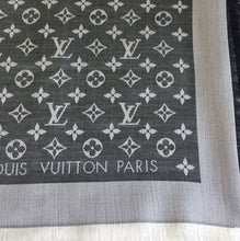 Load image into Gallery viewer, Louis Vuitton denim shawl black
