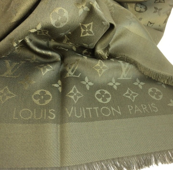 Louis Vuitton monogram shawl khaki