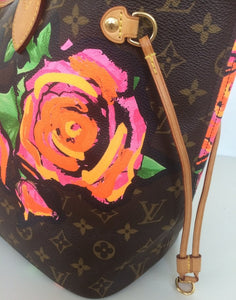 Louis Vuitton Neverfull MM Roses Steven sprouse