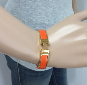 Hermes Clic H orange gold