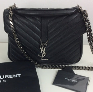 Saint Laurent college medium chain matelasse  bag