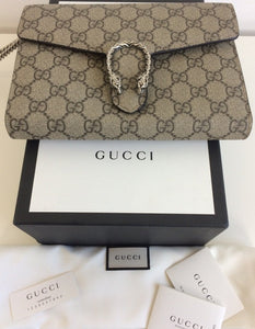 Gucci dionysus GG supreme wallet on chain