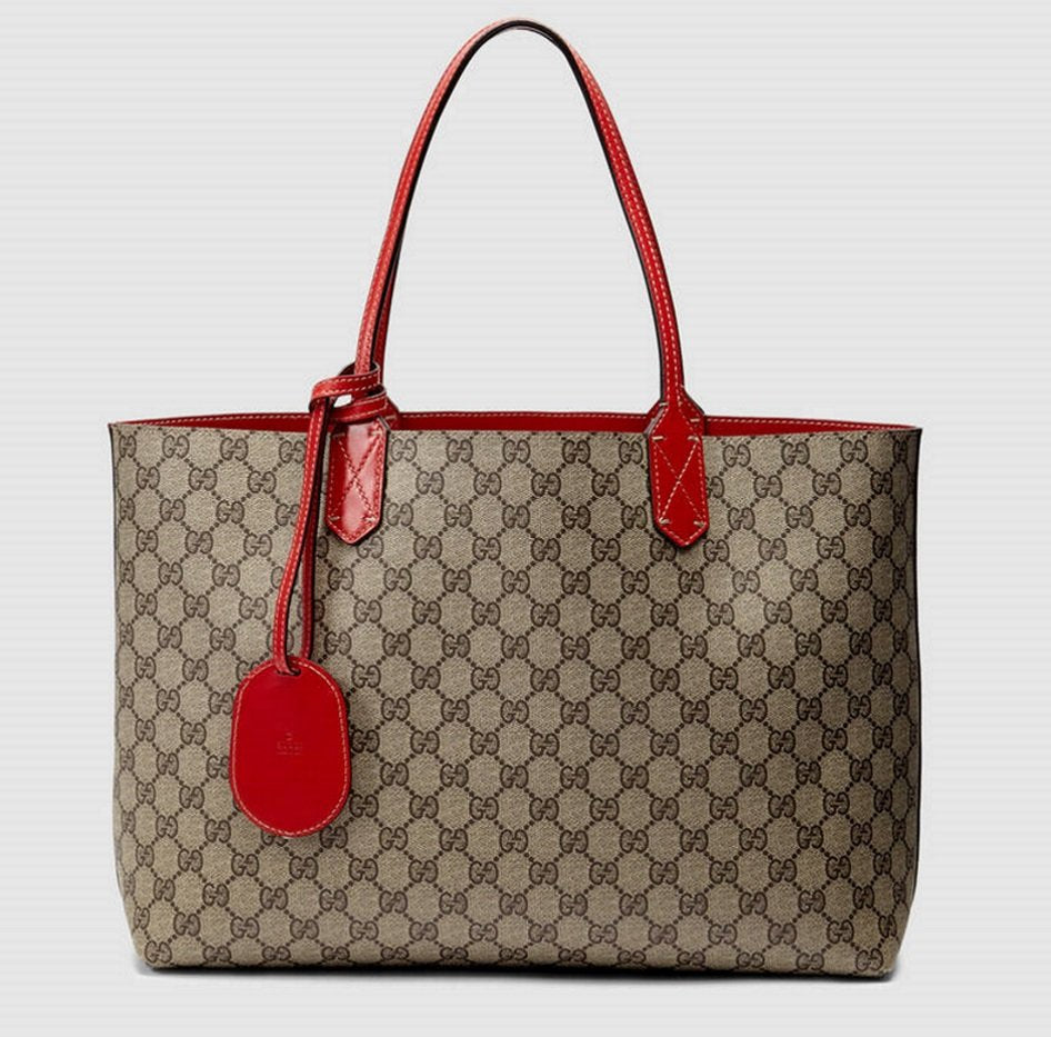 d4f5e2a7db6c Load image into Gallery viewer, Gucci reversible GG medium tote ...
