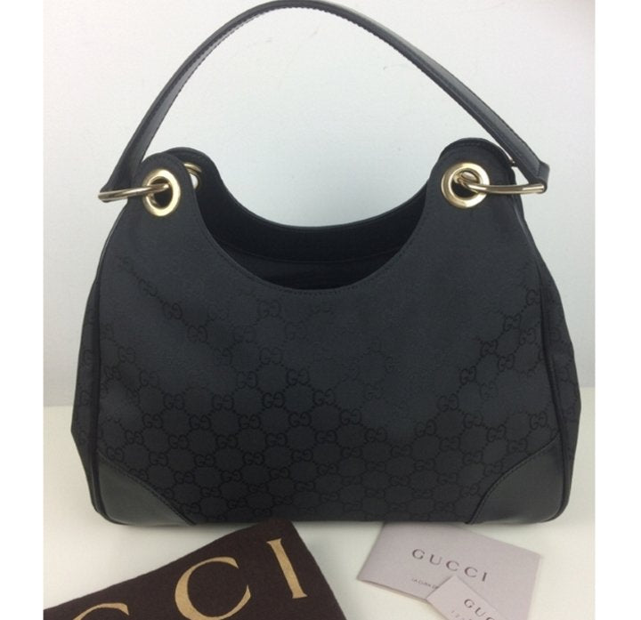 Gucci GG fabric canvas hobo