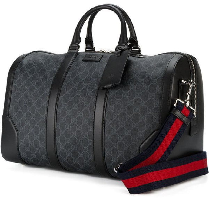 Gucci GG supreme large black carry-on duffle