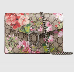 Gucci supreme  dionysus blooms wallet on chain