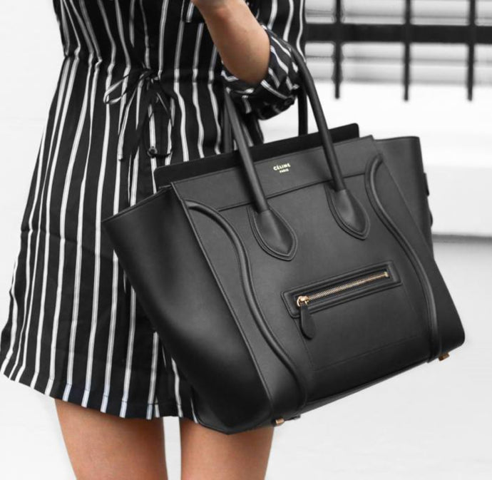 Céline mini luggage in black